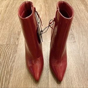 NWT Burgundy Ankle Booties High Heels 6